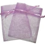 Organza vrečka, barva sivke (10x15cm)